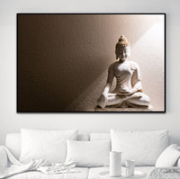 Wholesale framed asian art - Framed 100% Hand Painted Asian Buddhist Art Oil Painting ,Home Wall Decor High Quality Thick Canvas Multiple Size