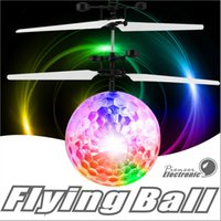 Wholesale Fly Change - Flying Ball, Children Flying Toys RC infrared Induction Helicopter Ball Built-in Shinning Color Changing LED Lighting for Kids ,Teenagers