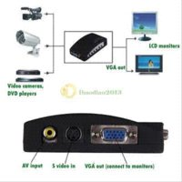 Wholesale Pc Av Out - A1T Tv Rca Composite S-Video Av In To Pc Vga Lcd Out Converter Adapter Box Black