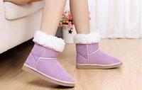 Wholesale Cheap Leather Shorts Women - Fashion Botas Women Boots Solid Warm Winter Snow Short Boots Round Toe Flat Platform Botas Femininas Casual Cheap Sale size:35-41