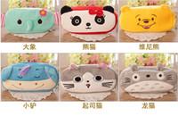 Wholesale Domo Pens - High Quality Pencil Case Pen bags domo kun Plush Pen bag Cosmetic bags for kids Stitch Mickey Totoro KT Cat Purse Wallet Cartoon 21*10*2.5cm