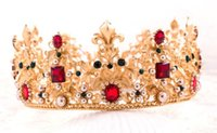 Wholesale Red Accesories - 2016 bride wedding accesories hair tiara crown Crystal Rhinestone Wedding accessories wholesale TS112
