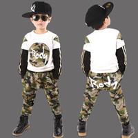 Wholesale Boys Zebra Harem Pants - Baby & Kids Clothing Clothing Sets Classic JUNGLE FATIGUES boys clothes Cotton long sleeve T-shirt+Harem Pants children autumn sport suit