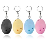 Wholesale Shape Keychain - 120dB Egg Shape Self Defense Girl Women Security Protect Alert Personal Safety Scream Loud Keychain Alarm