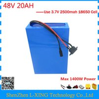 Wholesale electric scooter charger 48v - EU US no tax electric bike battery 48v 20ah 1000W Lithium battery 48V 20AH scooter battery with BMS 54.6V 2A charger