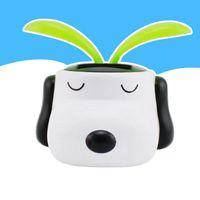 Wholesale New Solar Doll - 2016 new Solar Energy Toys Wholesale-Genuine car decoration Snoopy dog Sun Flower solar Bobblehead cartoon series free shipping