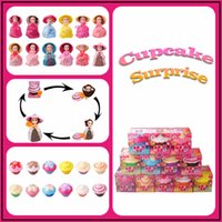 Wholesale Red Flavors - Cupcake Surprise Princess Dolls Vinyl Figures Scented Transform to 12 Roles Barbies with 6 Flavors Novelty Kids Toys