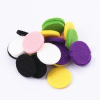 Wholesale White Felt Circles - Mixed Colorful Felt Pads for 20mm 25mm 30mm Essential Oil Diffusing Perfume Locket Pendant Locket Or Bracelet