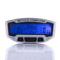 Wholesale Cycling Bracket - Hot Sale Waterproof LCD Backlight Bike Computer Stopwatch Bicycle Speedometer Odometer 28 Functions Waterproof Cycling Velometer+Bracket