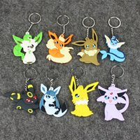 Wholesale Japanese Dolls For Men - Japanese Pocket Monsters Soft-sided keychain 100pcs New Pocket Monsters pikachu Squirtle collection gifts doll lot for kids party supply