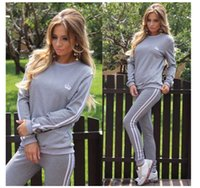 Wholesale Sexy Women S Sports Jerseys - Lowest Price ! Women Sexy Tracksuits Two-piece Sets, Tops + Pant Sets Sportswear, Fashion Woman Sport Clothing Long Sleeve Casual Tracksuit