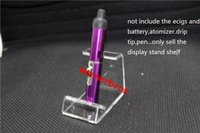 Wholesale Ego Crystals - 2pcs free shipping USA 15mm Acrylic Single cigarette display holder ecig ego ce4 evod acrylic stand rack Crystal Cosmetic Organizer Makeup b