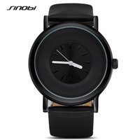 Wholesale Sinobi Male Watch - SINOBI Simple Fashion Men's Wrist Watches Black Leather Watchband Top Luxury Brand Males Geneva Quartz Clock Montres Hommes 2016