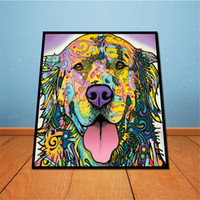 Wholesale canvas oil paintings huge - Modern Huge Wall Art Oil Painting On Canvas Golden Retriever Unframed Room Decor