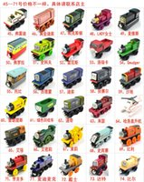 Wholesale Smallest Motorcycle Toy - 74 Styles Wooden Small Trains Cartoon Toys Friends wooden Complete set of car toy train toys (1set=70pcs)