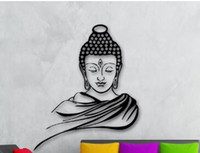 Wholesale buddha wall art decor for sale - Group buy Portrait D Poster Classic Religion Buddhism Buddha Wall Sticker Decal Vinyl Removable Wall Art Home Decor Muraux D B