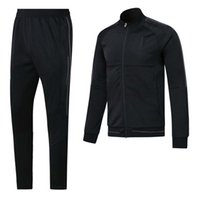 Wholesale Man Clothes Suits - ^_^ Wholesales 17 18 madrid black spring soccer tracksuit AAA quality long sleeve Training suit pants training clothes Sweater