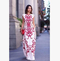 Wholesale Chinese Wear For Women - High quality women's dresses 2016 sleeveless o-neck ladies long dress Chinese style summer vintage dress for evening wear DEH 001
