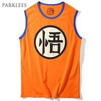 Wholesale Male Dragon Clothing - Wholesale- Dragon Ball Z Tank Tops Men 2017 Summer Goku Printed Mens Tank Top Cotton Vest Man Hip Hop Style Streetwear Male Clothing Tops