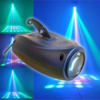 Wholesale Strobe 24 - led 10w RGB 24 pattern lights voice activated stage projector lamp DJ Disico Ballroom party lights small airship manual light AC100-240V