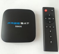 Wholesale Cortex A5 - FREE SHIP Freesat Amlogic S805 OTT TV Box Bluetooth 4 K HDQuad core ARM Cortex-A5