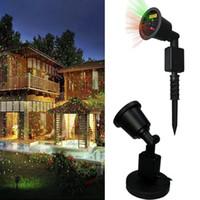 Wholesale Laser 7w - Outdoor Laser Light 7W Red & Green 2 in 1 Dynamic Lighting Star Projector Laser Spotlight Light Waterproof Garden Lawn Landscape Party Light