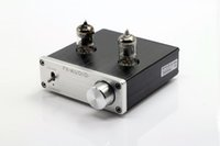 Freeshipping FX-AUDIO TUBE-01 DC12V 1A Bile Preamp Tube Amplifier Buffer 6J1 HIFI Audio Preamplifier Silver