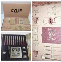 Wholesale Holiday Chocolate Box - dhl Kylie Lip Kit by kylie jenner Velvetine Liquid Matte 12 Days Vault Makeup Holiday Big Box I WANT IT ALL The Birthday Collection Gift