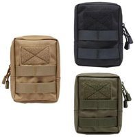 Wholesale Travel Body Wallets - Molle Climbing Camping Tactical Molle Bag 600D Nylon Pouch Portable Outdoor Mobile Phone Wallet Travel Military Sport Waist Pack