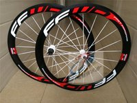 Wholesale Bike Carbon Wheels Sale - Top sale best quality white red 50mm full carbon road bike wheels 3k T1000 23mm with bicycle wheels with basalt braking surface wheelset