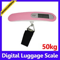 Wholesale Digital Lcd Handheld Scale - portable best price lcd display 50kg handheld digital scale hand lage scale 50 pcs free shipping