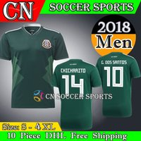 eb1b0f2b238 Soccer Men Short 2018 Mexico Jersey National Team CHICHARITO GUARDADO  HERRERA World Cup G . DOS