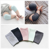 Wholesale Padded Clothes - 2017 New Design Cotton Fashion Baby Crawling Socks Environmentally Friendly Plastic Anti-skid Children Knee Pad Toddler Clothing