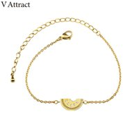 Venda quente 10 pcs Delicious Fruit Pulseras Gold Silver Chain Jewelry Mini pulseira de punho de melancia Femme Best Friend Gift