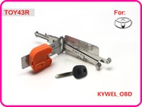 Wholesale Lock For Toyota - Smart TOY43R 2 in 1 auto pick and decoder for Toyota, locksmith tool free shipping