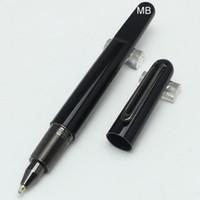 ingrosso penne promozionali di qualità-Prezzo promozionale MB Magnetic cap resina nera Roller Ball Pen School Office Fornitori Spedizione gratuita Alta qualità MT Bella penna