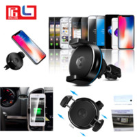 Wholesale Iphone Charger Mount Dock - Car mount with Car Wireless Charger for phone support Qi wireless charge for Iphone X Samsung S8 Free DHL Shipping