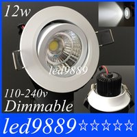 Noble Spain Style 10w 12w Cob Led Luzes embutidas Dimmable Led Downlight de teto para sala de estar Natural White 60angle Driver AC 85-265v