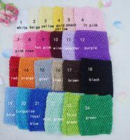"Wholesale 12 Crochet Tube Tops - 15% off! Try order Baby Elastic Tutu Top Headbands 6"" 9"" 10"" 12""  Crochet Top headwears girls Strapless Stretch Crochet Tube Top 20pcs lot"