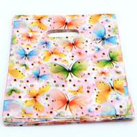 bolsas de regalo de mariposa al por mayor-Caliente ! Bolsos de la joyería .300pcs 20x25cm bolsa de regalo de la joyería de las bolsas de plástico de la mariposa