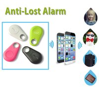 Wholesale Mini Cell Phone Car Key - Anti-Lost Alarm 4.0 Bluetooth Tracer iTag Smart Key Finder Tags for Apple iPhone Android Car GPS Locator Mini Wireless IT-06 Selfie Tracker