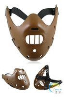 Wholesale Mask Lambs - Halloween Party Half Face Mask The Silence Of The Lambs Steel Teeth Hannibal Lecter Theme Resin Masks