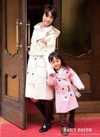 Wholesale Trenchcoat Girls - New parent-children match rain coat for girls and mother fashion woman rain coat trenchcoat women rainwear kids and mum raincoat