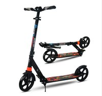 Wholesale Aluminum Folding Scooters - Aluminum Alloy 2 Wheel Scooters For Adults Kids Folding Portable Mini Bicycle Adult Kick Scooter Height Adjustable Scooter 200mm