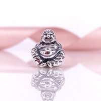 Wholesale Sterling Silver Smiling Charms Beads Fit Snake Chain Bracelet And Necklace DIY Fashion Jewelry