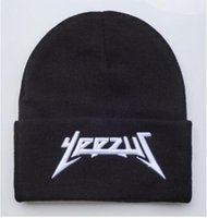 Wholesale Discount Church Hats - High quality Black yeezus Men Women Sports cap BEANIES caps discount knitted beanie hats Sport HIP HOP winter hat 1pcs dropshipping HFMY