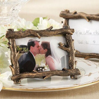 Wholesale Wedding Frame Card Holder Wholesale - Vintage Rustic Scenic View Tree Branch Resin Photo Frame Place Card Photo Holder Wedding Favor Baby Shower Gift ZA1358