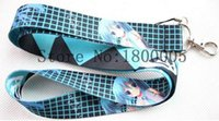 Wholesale Hatsune Miku Keychain - Lot 20 pcs Hatsune Miku Mobile Phone Lanyard Key Keychain Camera Neck Strap ID Badge Holder With Clip Man Woman Favor