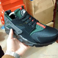 Wholesale Womens High Snow Boots - 2017 new high quality air huarache shoes mens womens running gym trainers black green training Sneakers Chaussure Hurache Custom