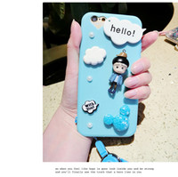 """Wholesale Iphone Pearl Pink - Luxury Pearl 3D Cute Maruko Cartoon Phone Case For iphone 6 6s 4.7"""" 6Plus 5.5""""Soft Silicone Back Cover Case for promotion item gift"""